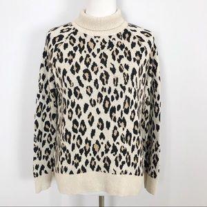 LOFT Animal Print Pullover Sweater